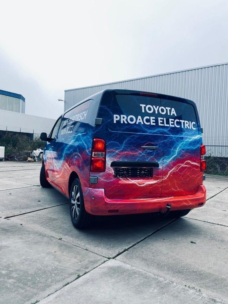Toyota ProAce Electric Belettering | Trim-Line Zevenbergen