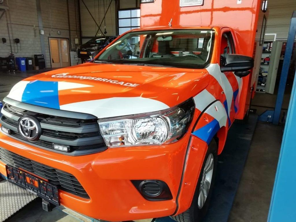 Reddingsbrigade voertuigen belettering en wrapping   Trim-Line Zevenbergen