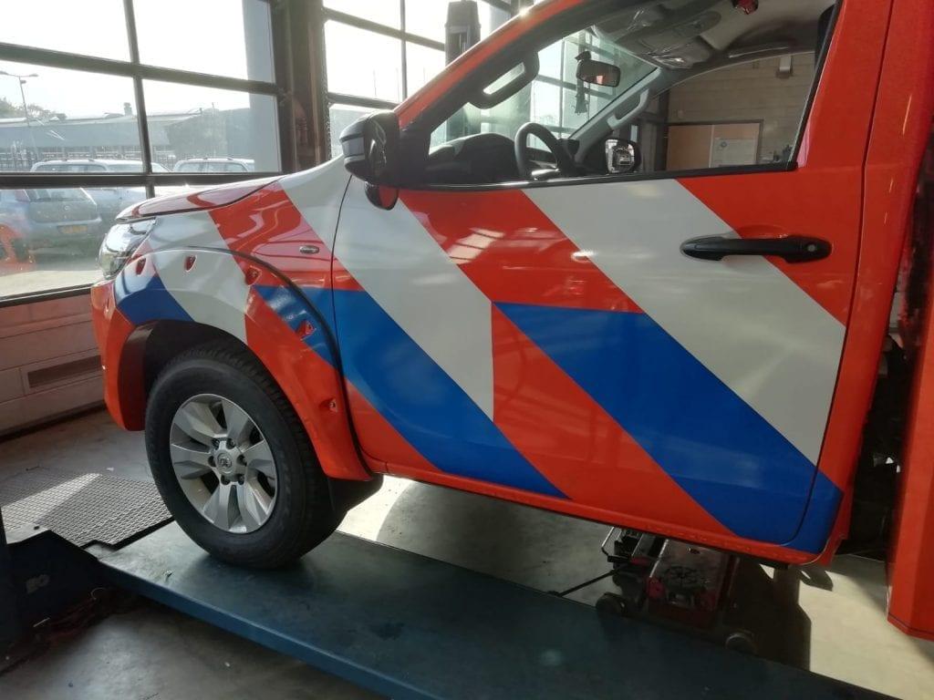 Belettering auto's Reddingsbrigade   Trim-Line Zevenbergen