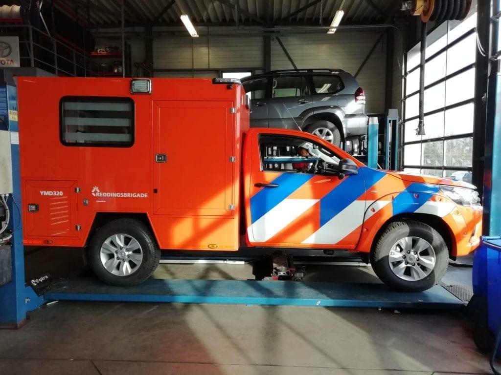 Belettering wagens reddingsbrigade   Trim-Line Zevenbergen