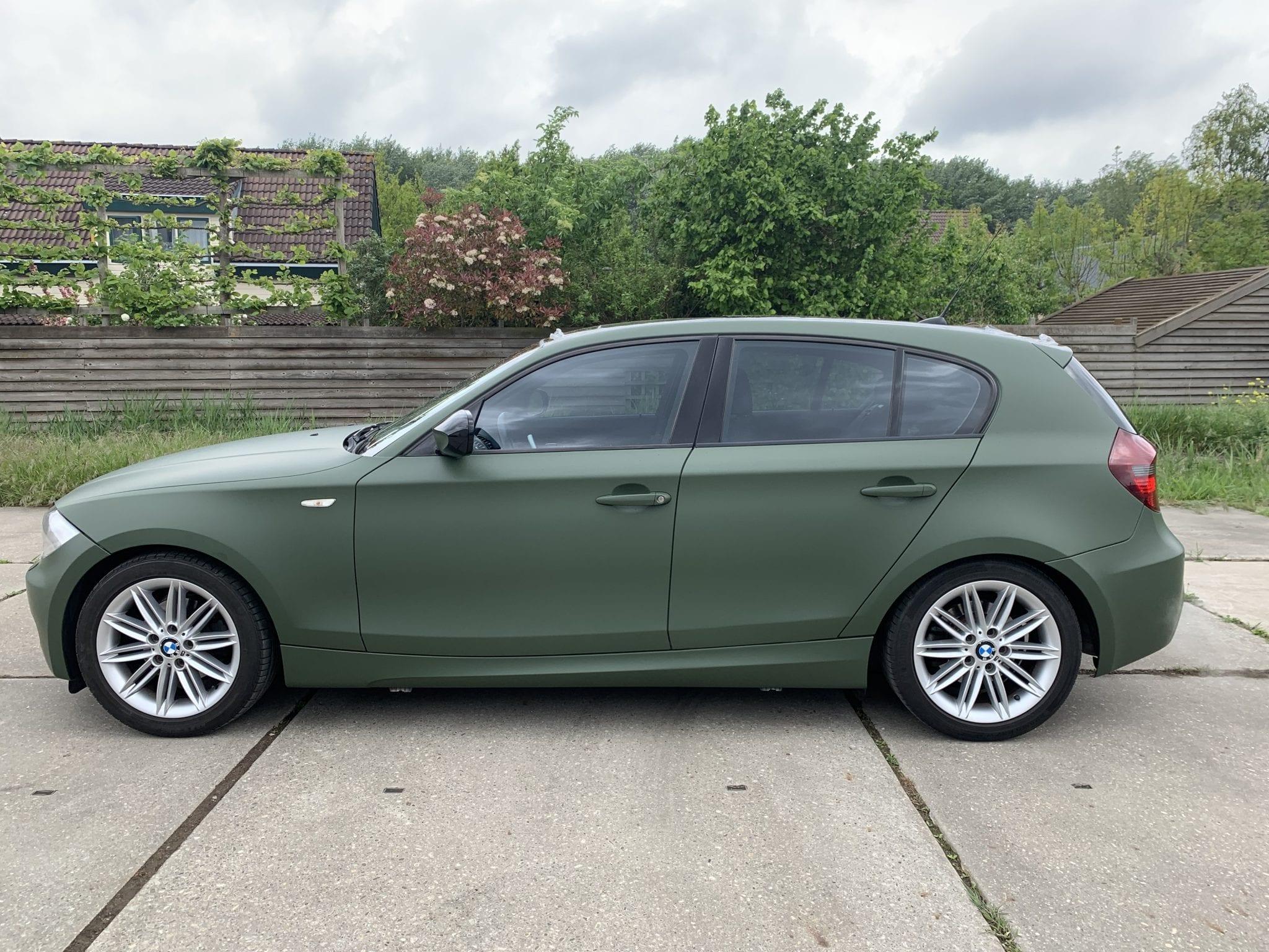 Groene BMW Carwrap | Trim-Line Zevenbergen